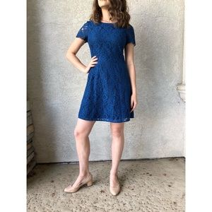 J. Crew cobalt blue lace shift dress